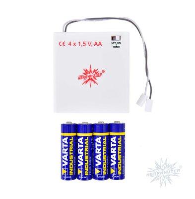 Batterijvoeding voor MINI-ster en 13 cm plastic ster met LED-lamp