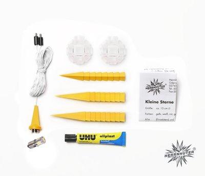 Knutselster Plastic 13 cm met LED-lampje (bouwpakket)
