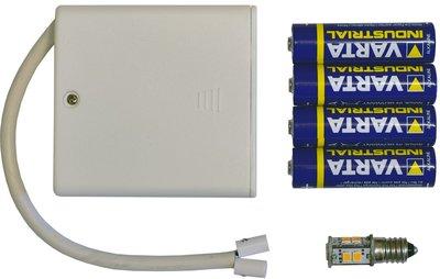 Batterijvoeding voor A1 sterren (13 cm plastic)