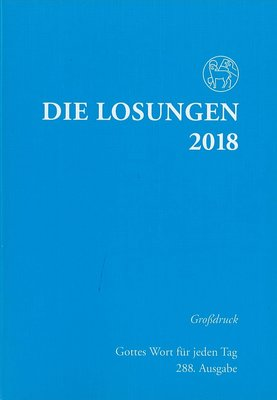 Die Losungen 2018 (grootdruk, Duits)