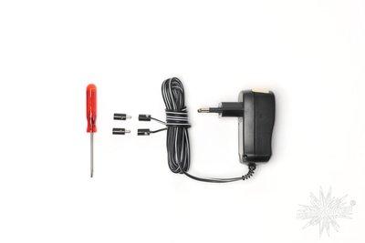 Adapter voor 3 -5 sterren 13 cm (230V -> 6V / 1000 mA)